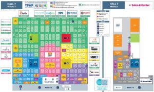 Plan des salons Paris Healthcare Week 2019