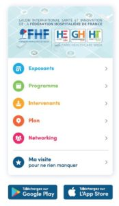 SantExpo, applimobile de la Paris Healthcare Week 2019